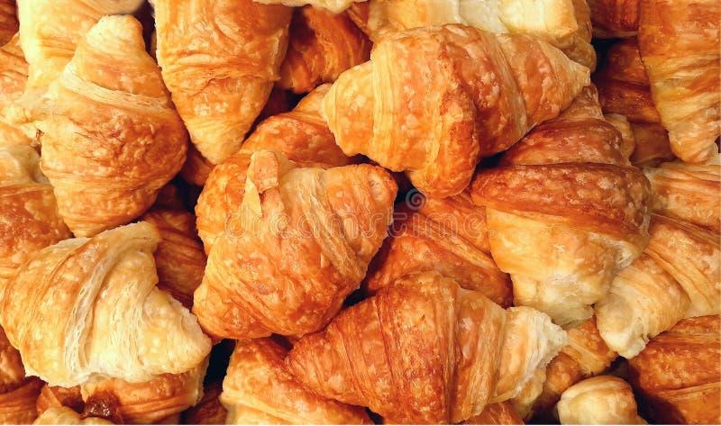 Mini panes del cruasán imagenes de archivo