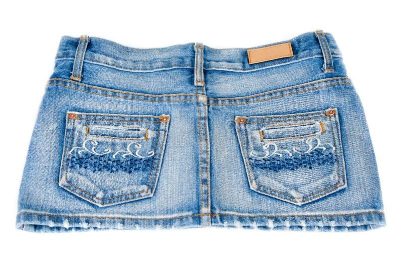 Mini pannello esterno dei jeans fotografia stock