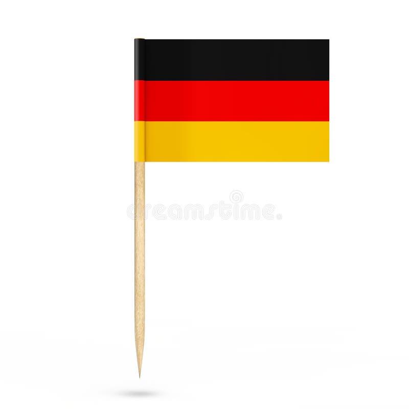 Mini Paper Germany Pointer Flag rendição 3d ilustração stock