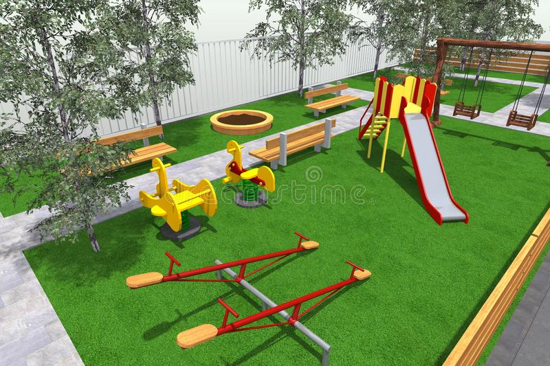 Download Mini Park 3D Stock Illustration Of Master