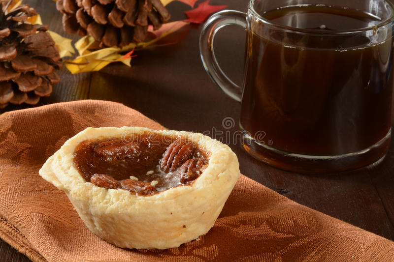 Mini pecan pies royalty free stock image