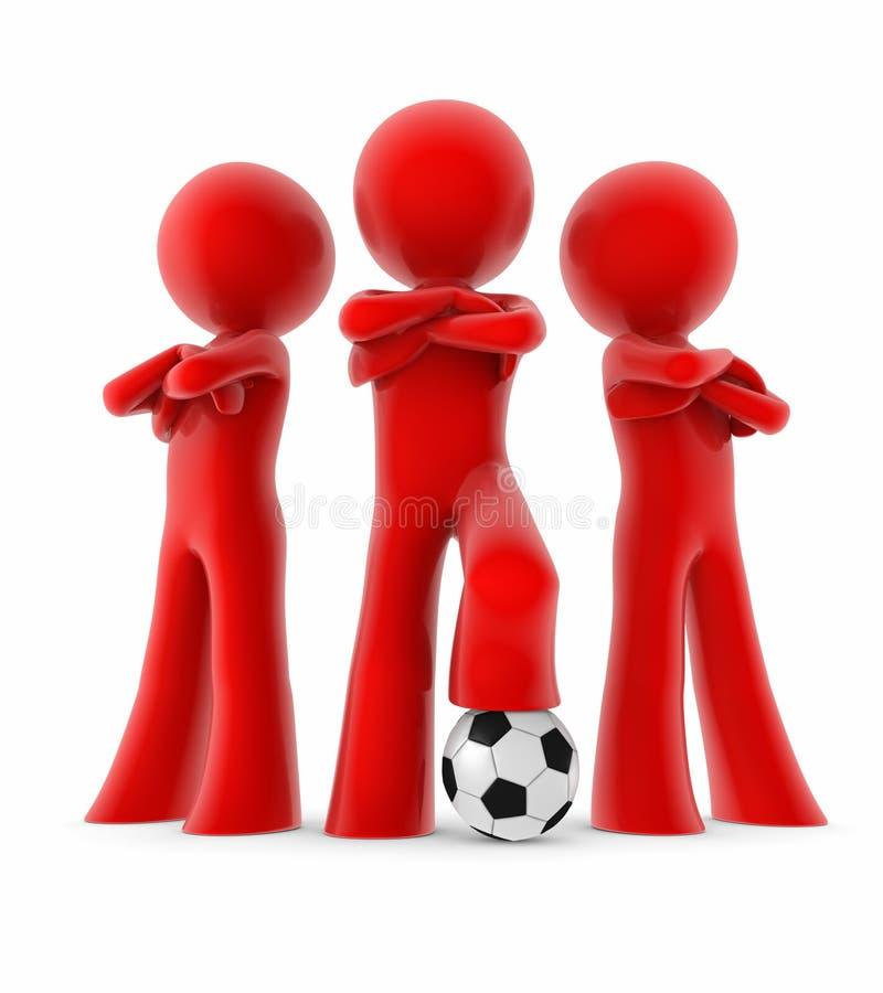 Mini personas del fútbol stock de ilustración