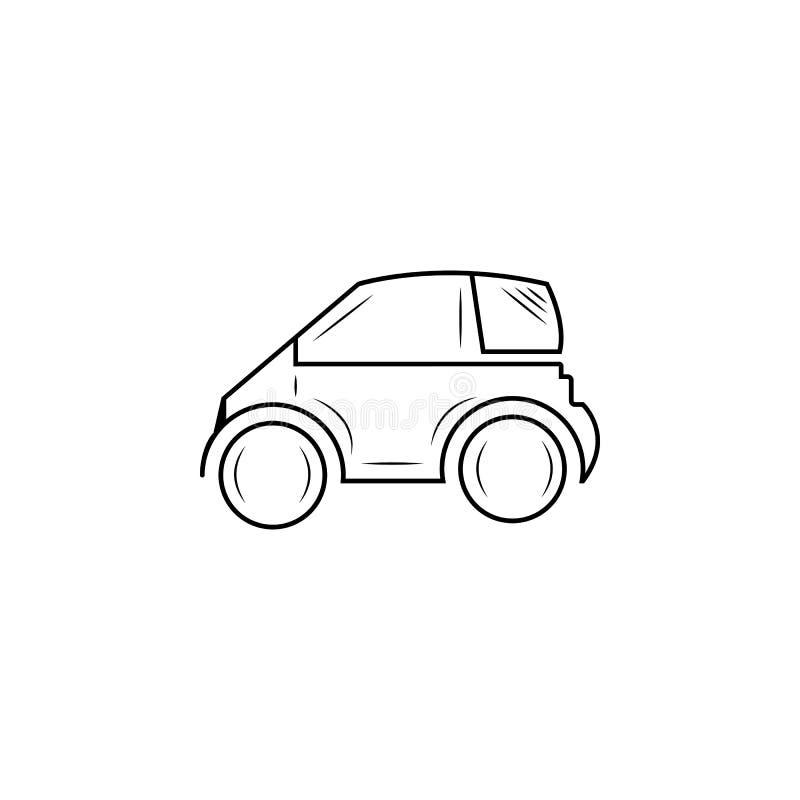 Mini petite ligne urbaine icône de véhicule de ville illustration libre de droits