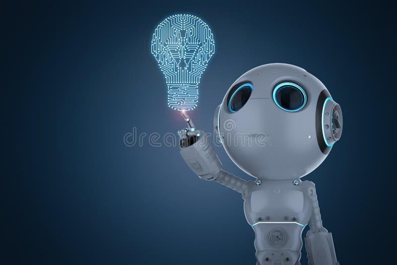 Mini point de doigt de robot illustration libre de droits