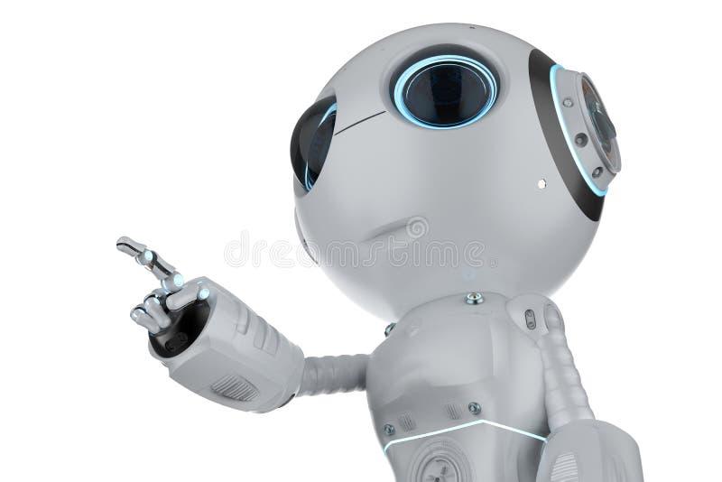 Mini ponto do dedo do robô ilustração royalty free