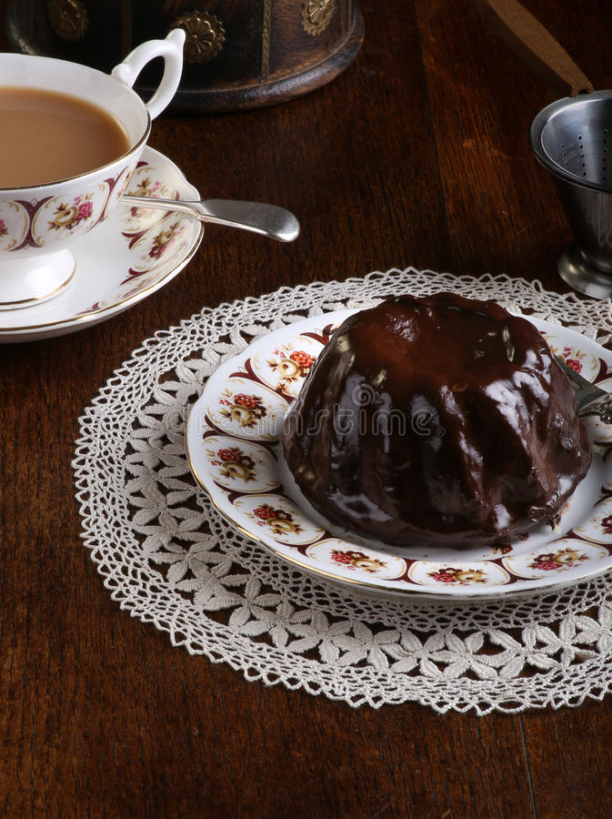 Download Mini Pound Cake - Chocolate Hazelnut, Tea, Lace Stock Image - Image: 33270461