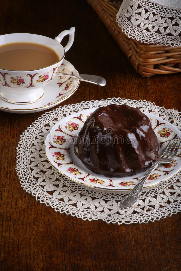 Download Mini Pound Cake - Chocolate Hazelnut, Tea, Lace Stock Photo - Image: 33270536