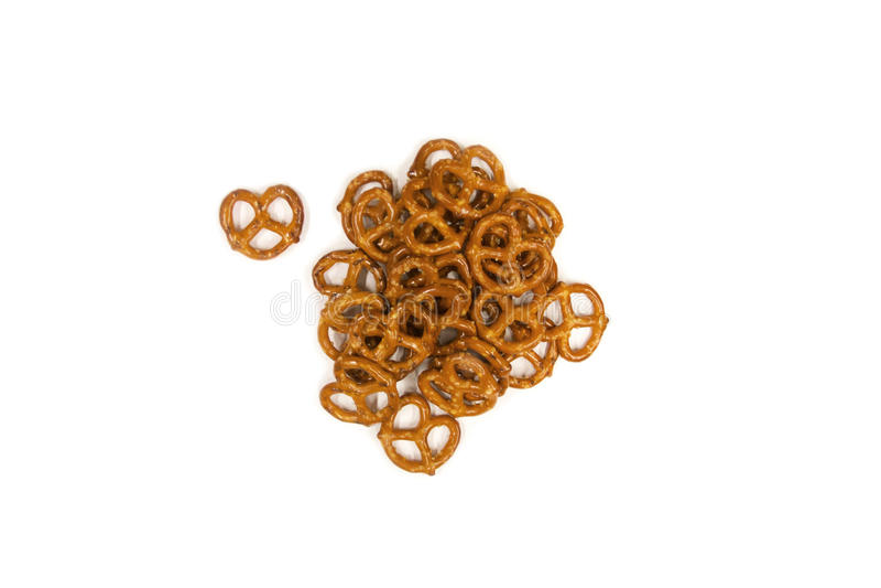 Mini pretzeles imagenes de archivo