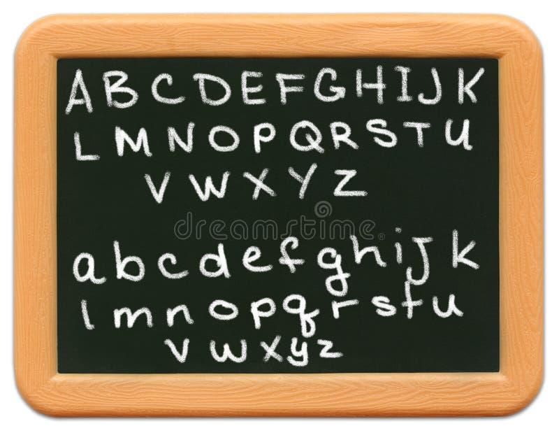 Mini quadro da criança - alfabeto imagem de stock