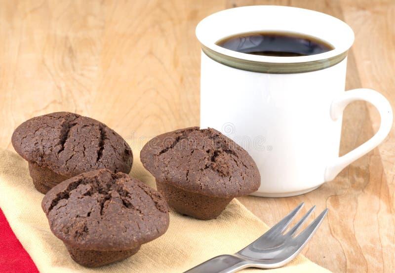 Mini queques do chocolate foto de stock royalty free