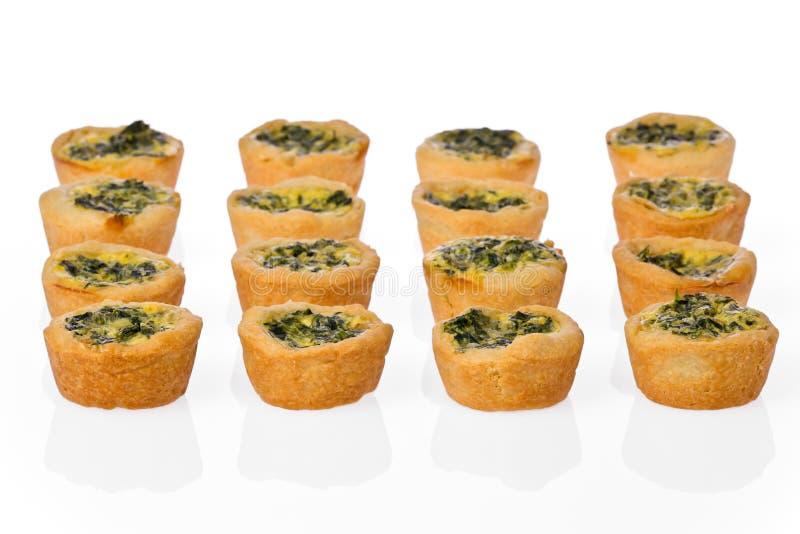 Mini quiche degli spinaci immagine stock libera da diritti