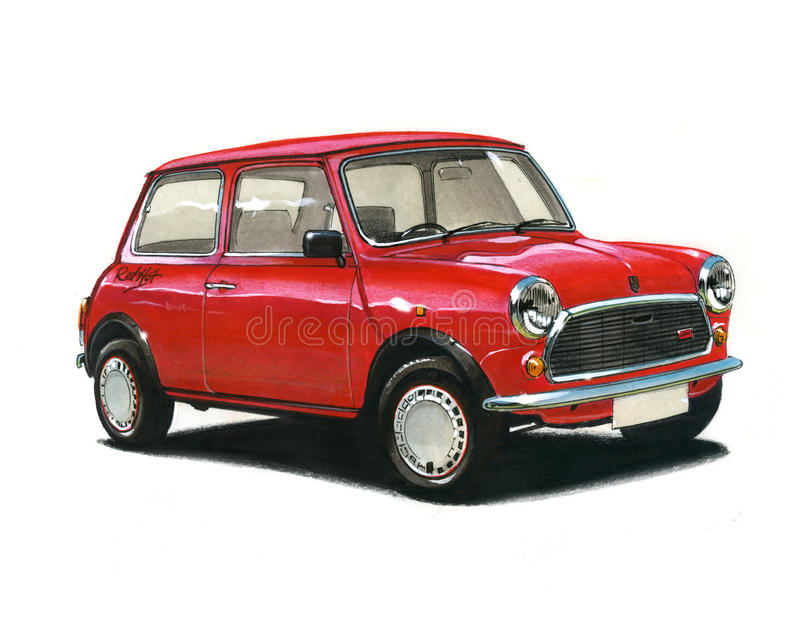 Mini Red Hot Special Edition royalty-vrije illustratie