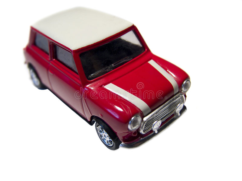 Mini red toy car front royalty free stock images
