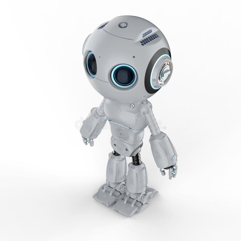 Mini robô bonito ilustração royalty free