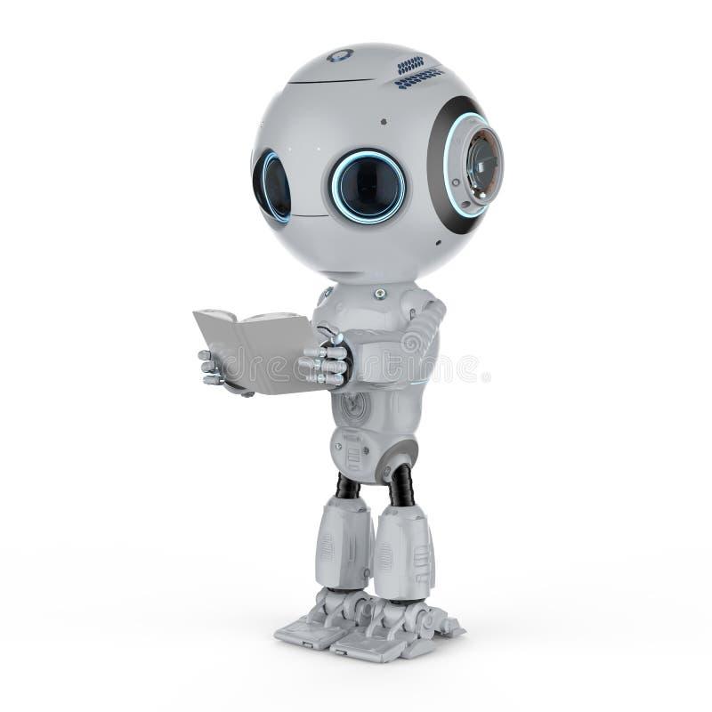 Mini robô que aprende ilustração royalty free