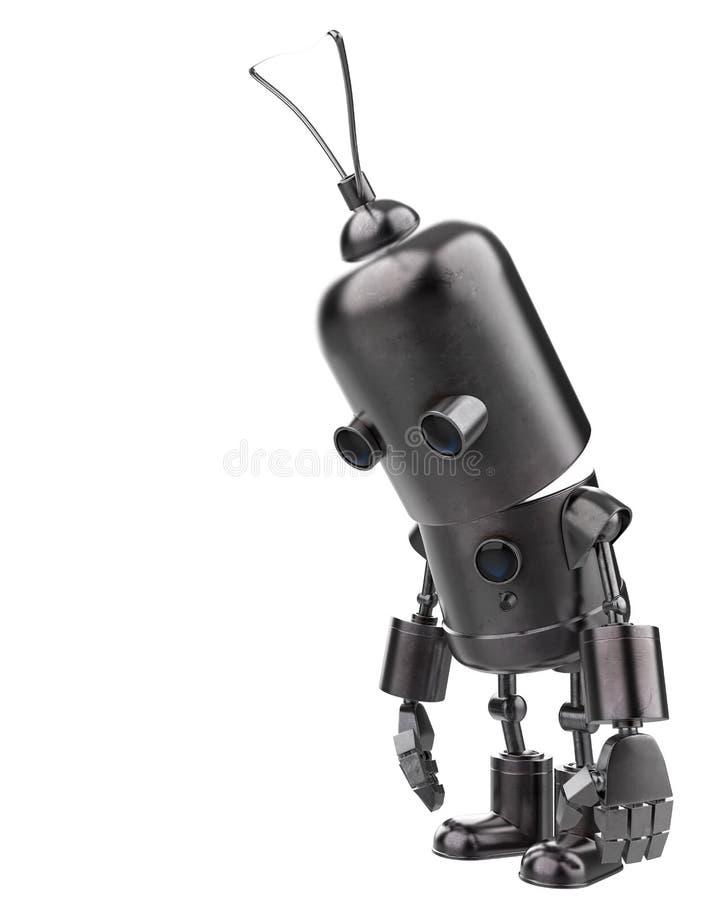 Mini robot del hierro en un fondo blanco libre illustration