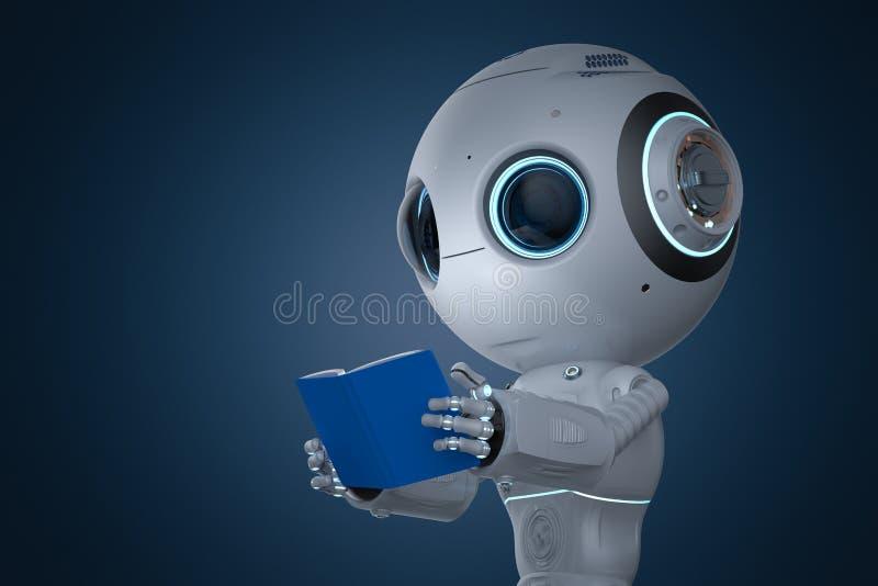 Mini- robot som lär stock illustrationer