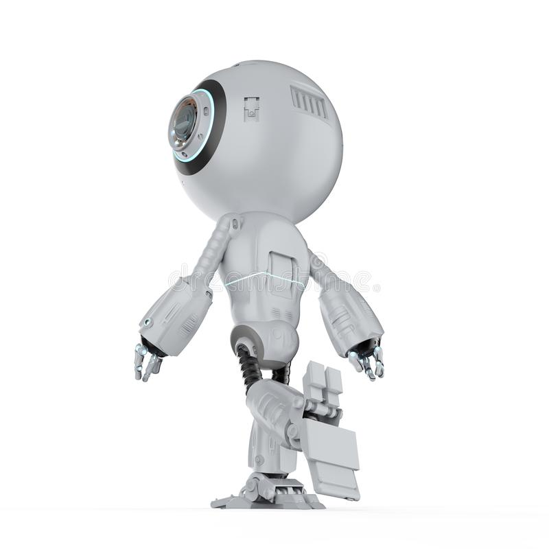 Mini robot walk stock illustration