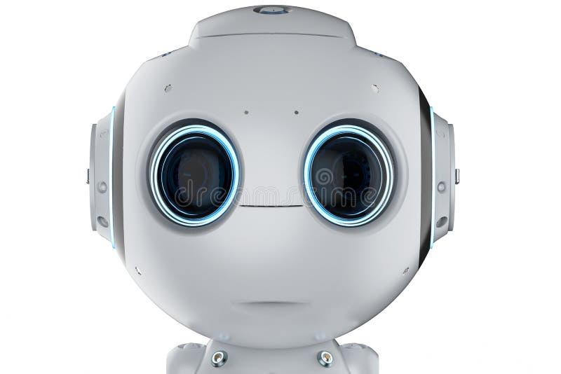 Mini robot z dużymi oczami royalty ilustracja
