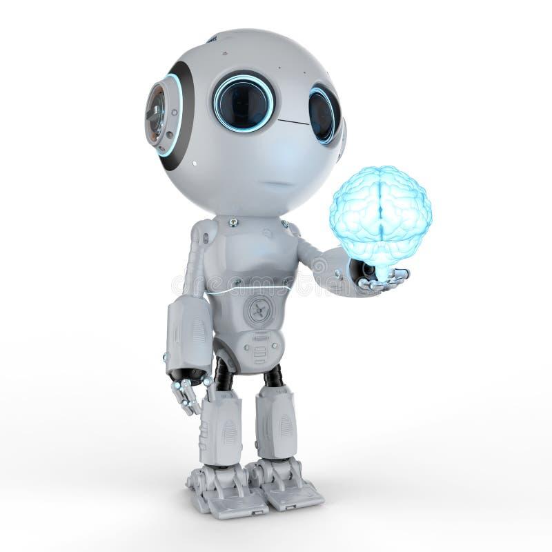 Mini robota chwyta mózg royalty ilustracja