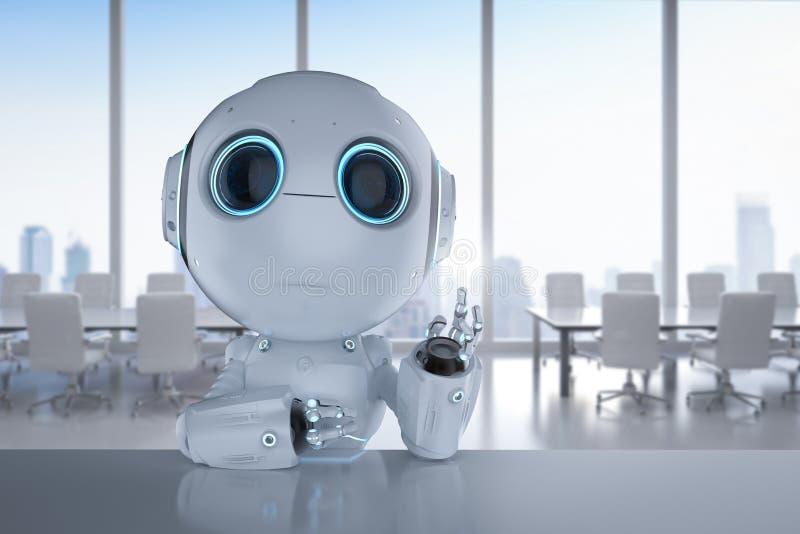 Mini- robotarbete arkivbild