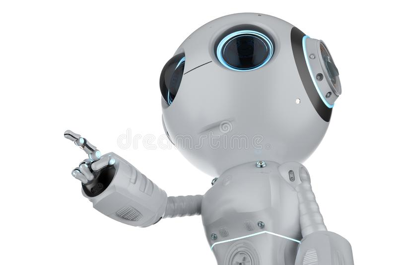 Mini- robotfingerpunkt royaltyfri illustrationer