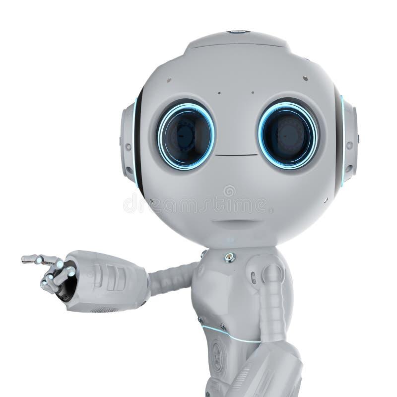 Mini- robotfingerpunkt stock illustrationer