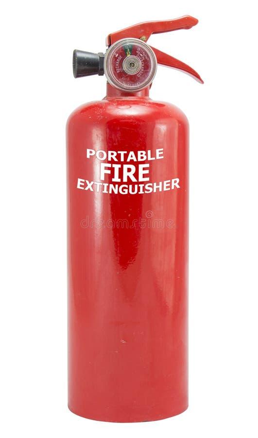 Mini rood draagbaar brandblusapparaat royalty-vrije stock afbeeldingen