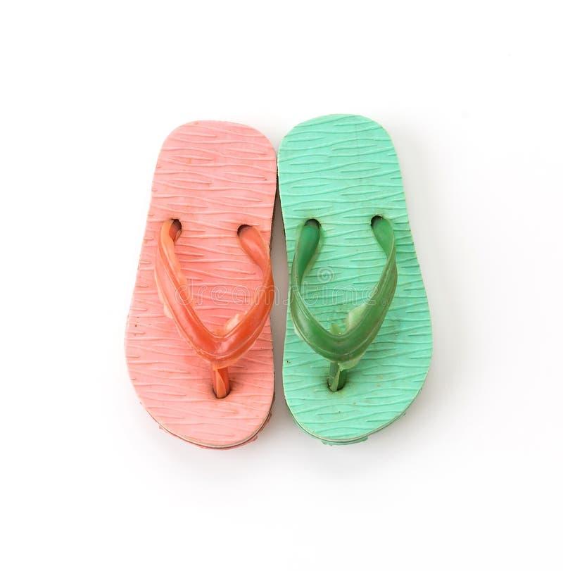 Mini sandalia en blanco foto de archivo libre de regalías