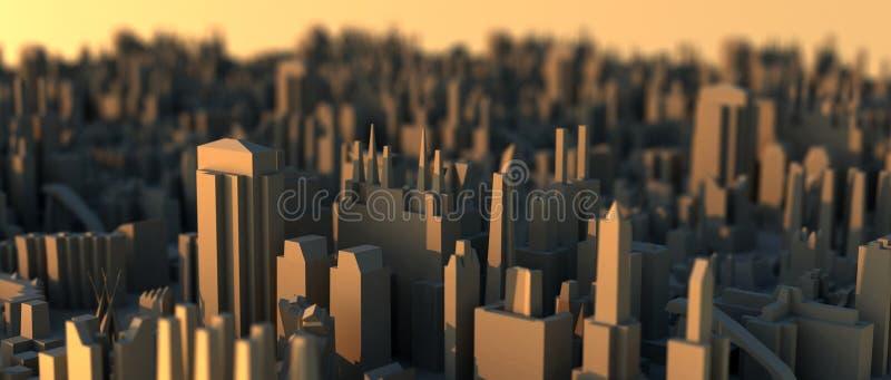 Mini scape de la ciudad stock de ilustración