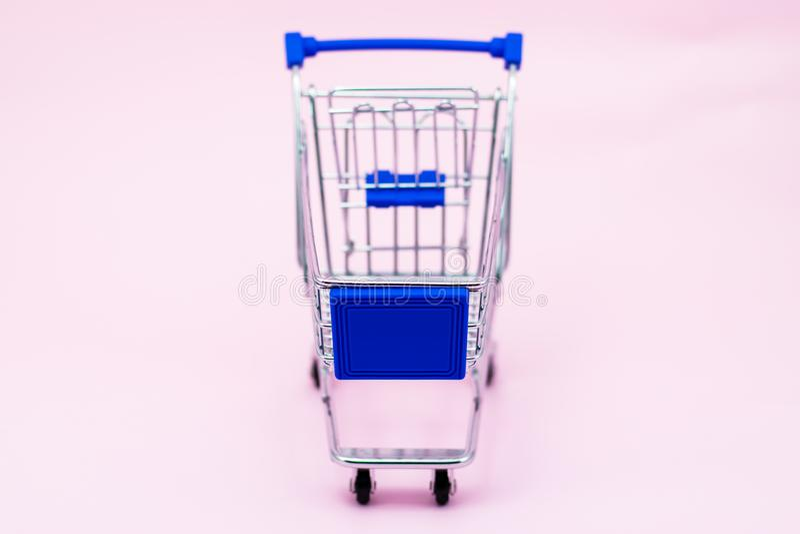 Mini Shopping Cart royalty free stock photos