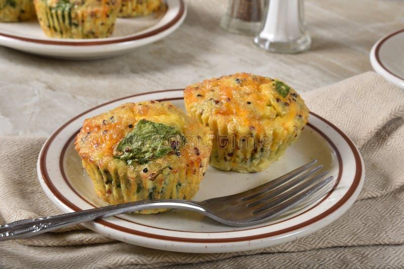 Mini Spinach Kale Quiches fotografie stock libere da diritti
