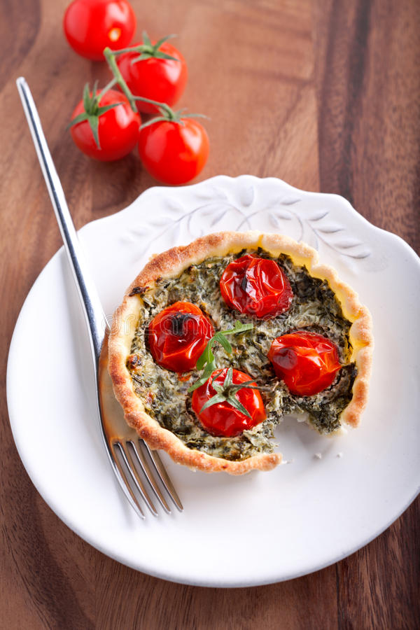 Mini Spinach Quiche foto de stock royalty free