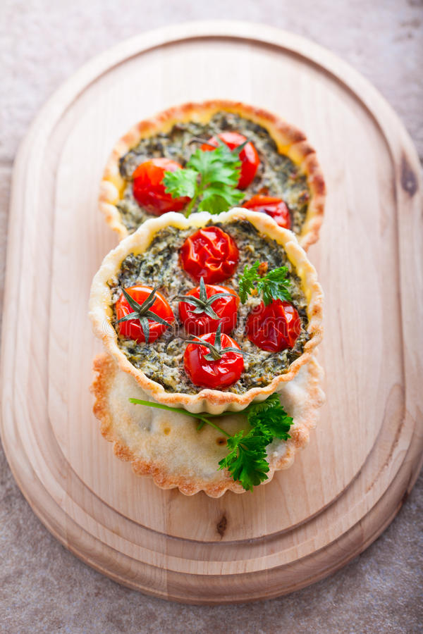 Mini Spinach Quiche fotografia de stock royalty free