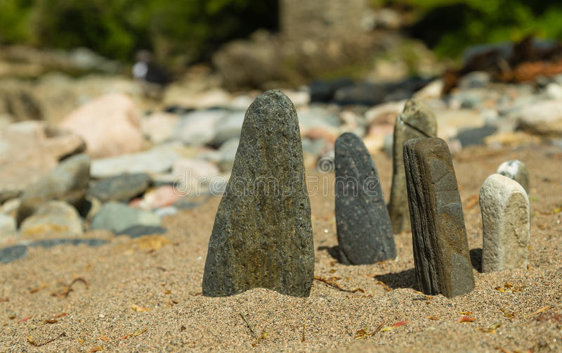 Mini Standing Stones royaltyfria bilder