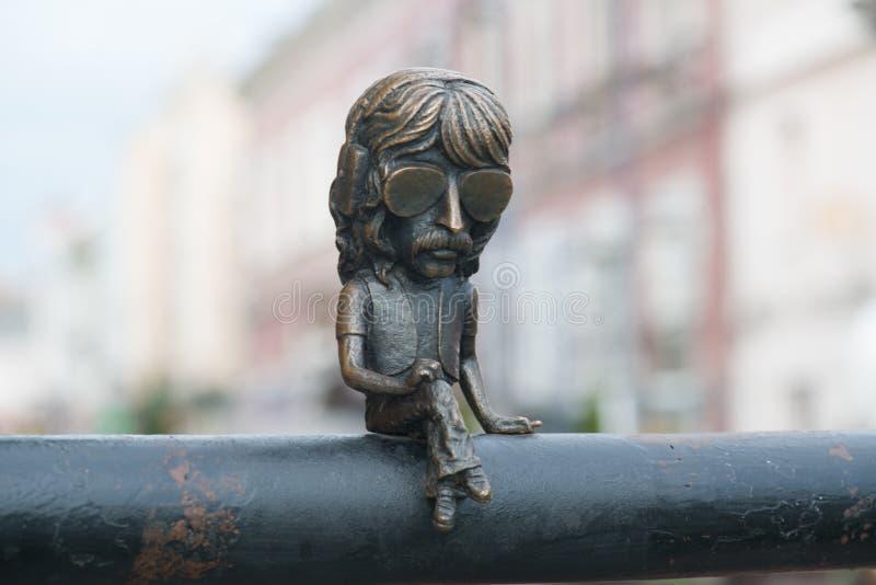 Mini statue of John Douglas in Uzhgorod stock image