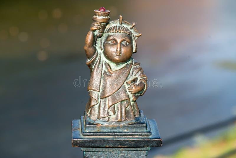 Mini statue of liberty in Uzhgorod royalty free stock image