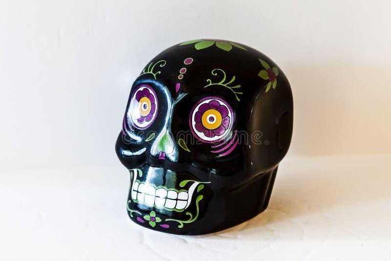 Mini Sugar Skull Top Angle View preto foto de stock royalty free