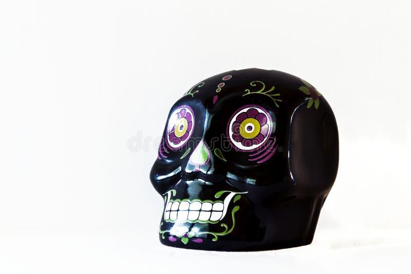 Mini Sugar SkullRight Side View preto imagem de stock royalty free