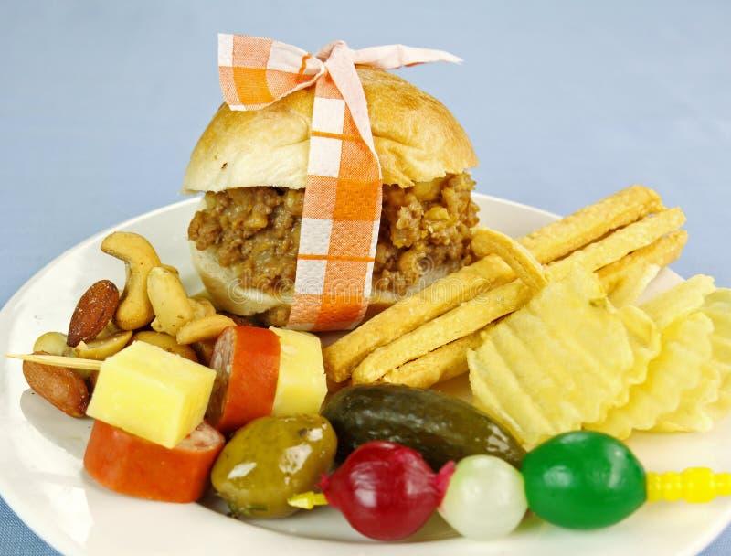 Mini suwaka hamburger obrazy royalty free