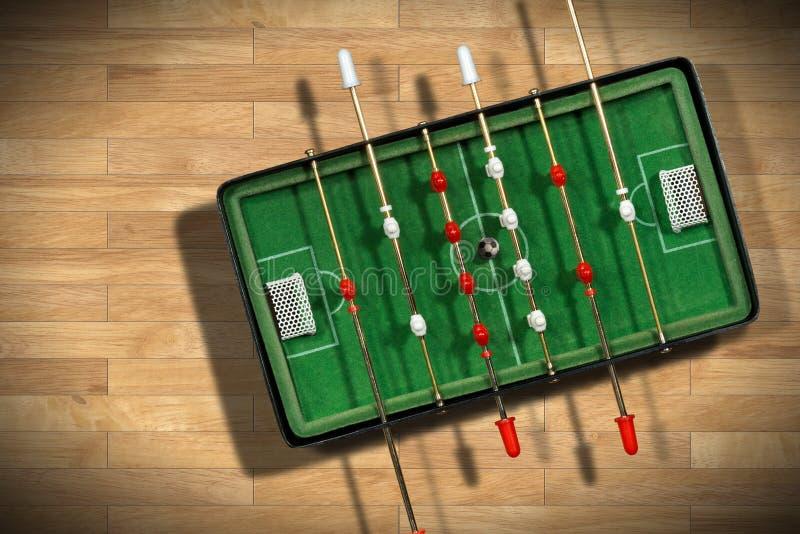 Mini Table Football Game avec du ballon de football image stock