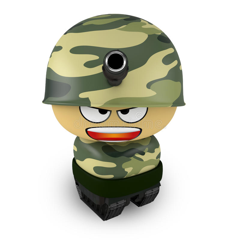 Cartoon Soldier In Army Tank Stock Vector - Illustration of