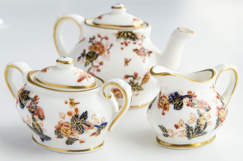 Mini Tea Cup Set stockfoto