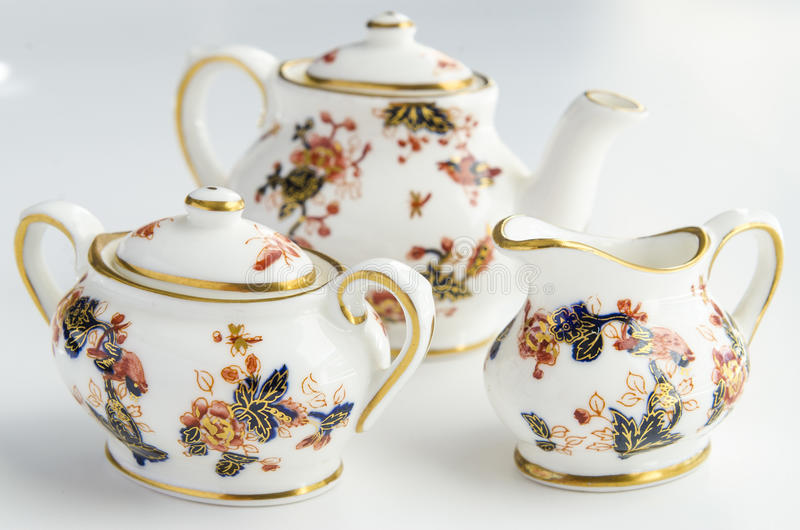 Mini Tea Cup Set stock photo