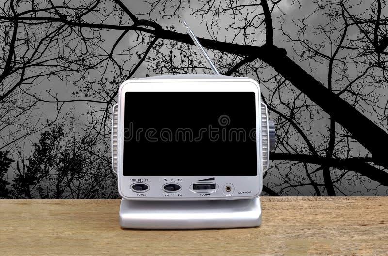 Mini televisão análoga imagens de stock