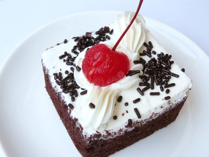 mini torta de chocolate de la gasa fotografía de archivo