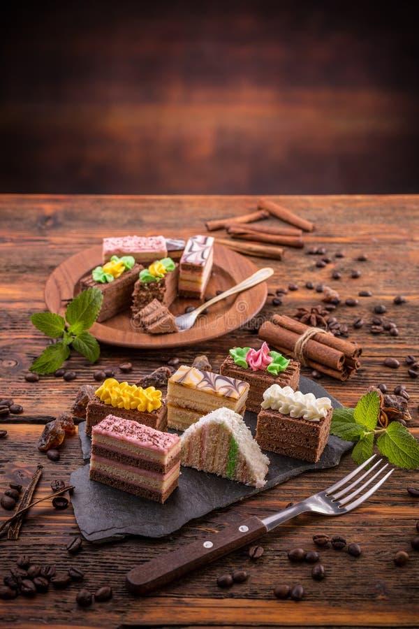 Mini tortas foto de archivo