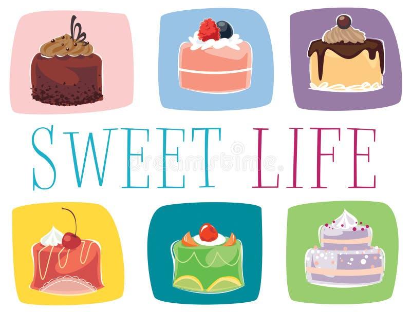 Mini torte illustrazione di stock