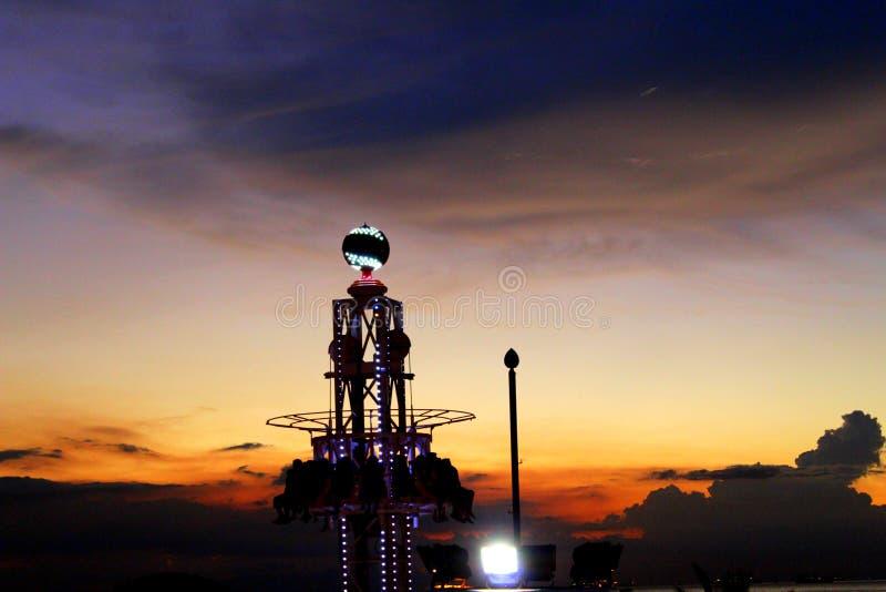 Mini Tower Drop van Wandelgalerij van Azië stock foto's