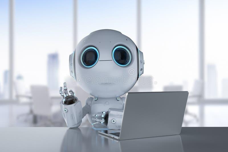 Mini trabalho do robô ilustração stock